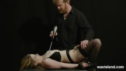 Electrical Ecstasy For Bound And Shackled Beauty
