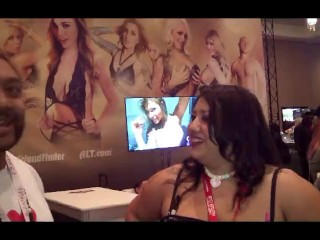 Sun Sadie w/ Tone Cruz AVN 2017 Las Vegas NV