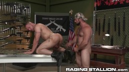 Latino Bounces On Hairy Daddy Jaxton Wheeler's Cock - HOT