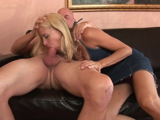 Mother son shocked blowjob
