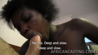 Amazing african princess gives head Pov babe