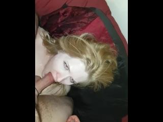 Her first deepthroat caught on camera