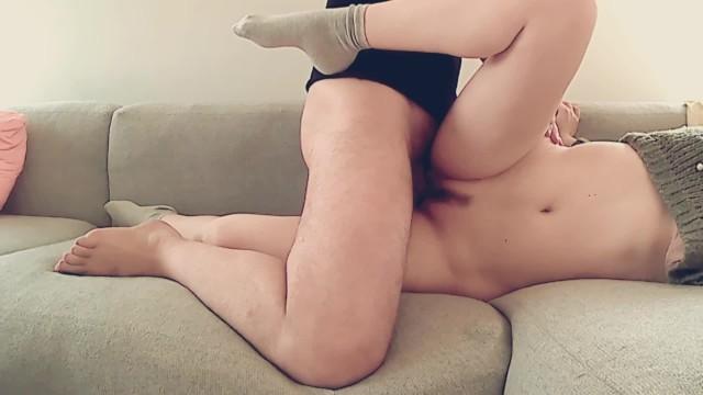 Sperm dripping - Sweet girl gets fucked sideways - sperm dripping vagina