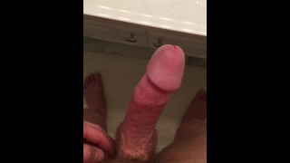 Sink cumshot Masturbating solo