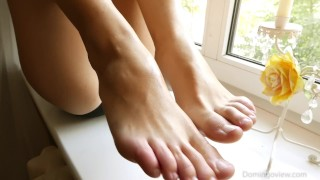 Feet fetish Rough tittyfuck