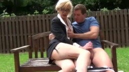 Filthy tranny is cock hungry in the park