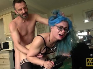 British sub slut gets fed with nasty maledoms hot cum