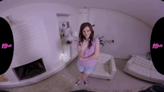 Preview 1 of 18VR.com Redhead Teen Elena Vega Craves For Creampie