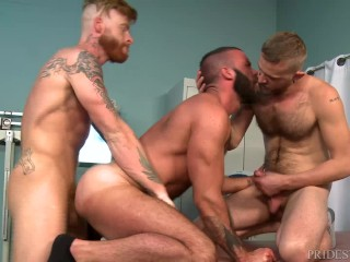 Rough Muscle Doctor Fucks His Interns - HOT GROUP!