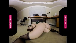 BaBeVR.com Busty Redhead Jayden Cole Masturbates In Her Office Moore anal