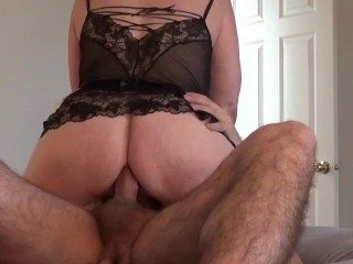 Amateur Girl Riding Cock In Her Ass - Anal Cowgirl Creampie