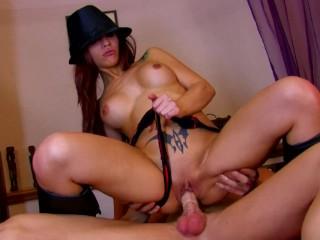 Bubble Butt Latina Escort Rides Cock Slurps Cum
