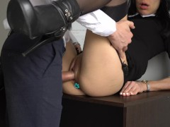Fragile Japanese girl group sex fuck two strong black guy