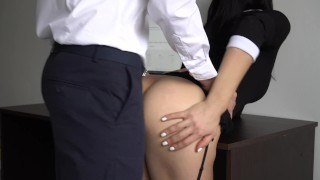 Anal Creampie For Sexy Secretary, Boss Fucked Her Tight Pussy And Ass! Pussy ashley
