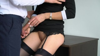 Anal Creampie For Sexy Secretary, Boss Fucked Her Tight Pussy And Ass! Stepsister stepfamily