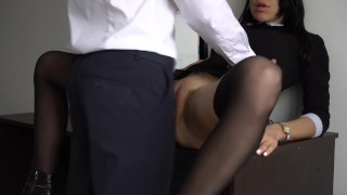 For fucked boss tight creampie anal ass sexy and pussy secretary her real verified