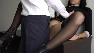 Anal Creampie For Sexy Secretary, Boss Fucked Her Tight Pussy And Ass! Full romantic