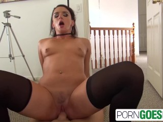 PornGoesPro - Big booty Sheena Ryders is punished by a big dick, big boobs