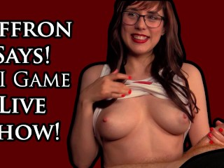 Saffron Says LIVE! JOI Game and Q&A - Sexy Satyrday February 24th 2018