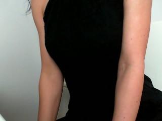 Masturbate at work :Day 67 :See through dress