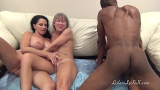 PenisColada - Three Milfs and a Black Cock Tits cock