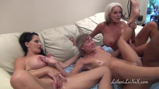 Peniscolada and three cock a milfs black angelo riding