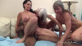 PenisColada - Three Milfs and a Black Cock Horny granny