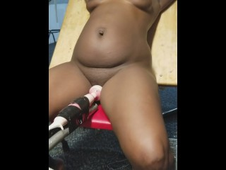 Sexy Black Girl Tied Up and Vibe / Pussy Pulsating
