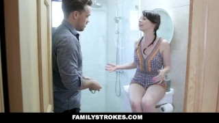 FamilyStrokes - Slutty Sis Athena Rayne Fucks Her Stepbrother Couple teasing