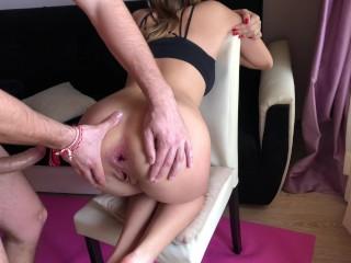 Yoga girl receive rough anal fuck during training. HD