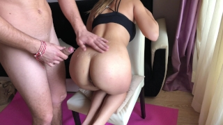 Yoga girl receive rough anal fuck during training. HD Denial ruined