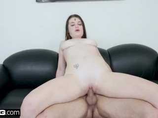 BANG Casting - Teen slut Anastasia Rose gets a rough fuck