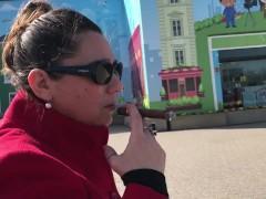 Cigar in public again