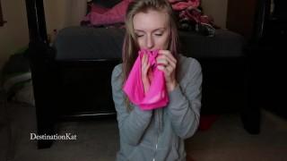 DestinationKat Sniffs Her Worn Panties