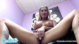 Kleio Valentien big tits blonde playing with multiple toys.