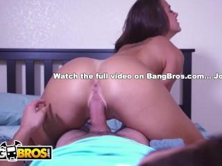 BANGBROS - Step Sister Evelin Stone Catches Juan El Caballo Loco In The Act