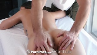PornPros Massage fuck with inked up shaved brunette Shane Blair Blowjob couples