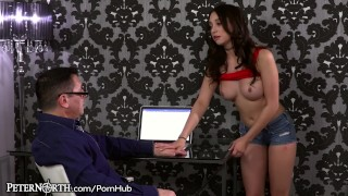 Big Tits Step Daughter Cannot Control her Daddy Lust!