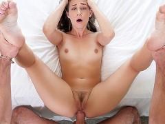 HOLED Brunette Cassidy Klein caught and anal fucked as punishment