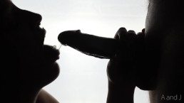 Silhouette Blowjob With Massive Cum Facial