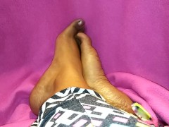 : Foot routine- clay soak and oiling after