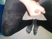 Piss my pants, tights, socks and cum.