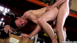 Hairy homo Riley Tess rides his gay lover Jonny Parker