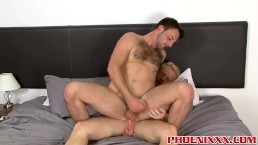 British gentleman Andro Maas drilling inked studs asshole