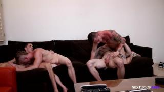 NextDoorRaw 4 Hot Guys BAREBACKING - RAW Swingers Group!