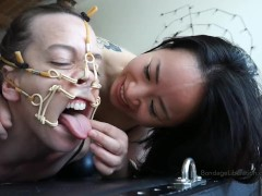 In Hog Heaven - Hinako and Chiaki from Tokyo tie up Elise Graves