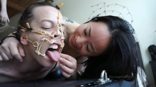 In Hog Heaven Hinako and Chiaki from Tokyo tie up Elise Graves
