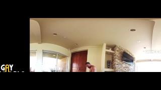 2 Muscle Jocks Fucks In VR360 HOT JOCK SEX! Fake pussy