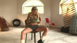 Big Tit Blonde CAYLIN CURTIS Gives Hot Masturbation Show