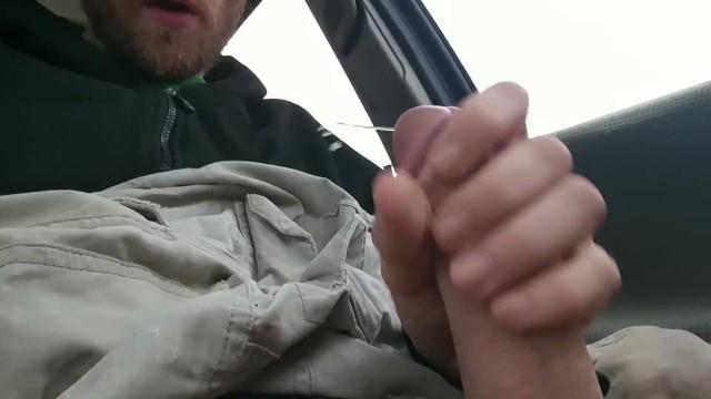Sex in cars parking lot - Big cock shoots huge load in drug store parking lot